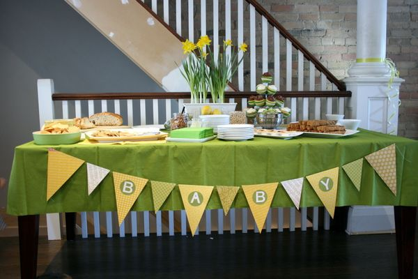 And Sew On A Green And Yellow Baby Shower For Jen